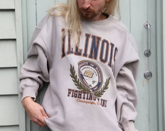 University of Illinois College Sweater