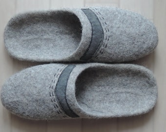 felt slippers mens  Felted slippers  Woolen clogs Adult slippers