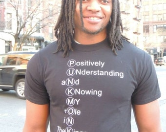 our words tshirt (acronym for punkmonkey)