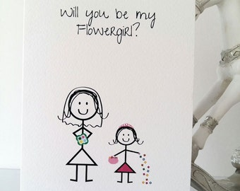 Will you be my flowergirl, flower, girl, bride, wedding, marriage, sister, niece, will you, bridesmaid, little girl, love