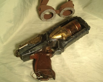Steampunk Nerf gun with goggles