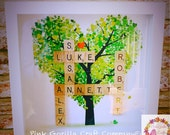 Family Tree Our Family Scrabble Frame  Personalised Family Tree