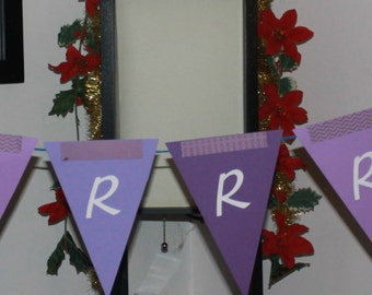 Winter Party Banner Bunting