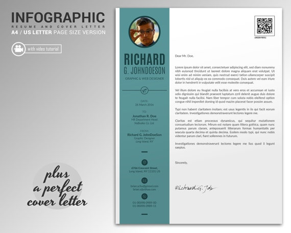 gridride - Professional Resume Template and Cover Letter, Word and ...