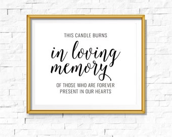 DIY PRINTABLE Remembrance Memorial Sign | Instant Download Wedding Ceremony Reception | Gold Foil Calligraphy Print | Suite | WB1