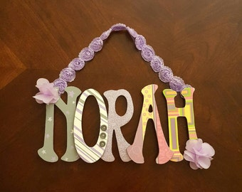 Personalized nursery letters. Custom hand painted nursery wall letters.