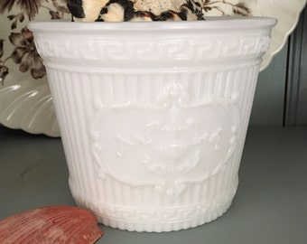 Milk Glass Pot
