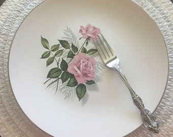 Rose Pattern China Dinner Plates set of 4