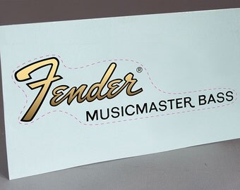 Fender Musicmaster Bass precut water slide decal headstock for restoration