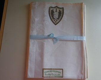 Pure Irish Linen Double Damask Napkins
