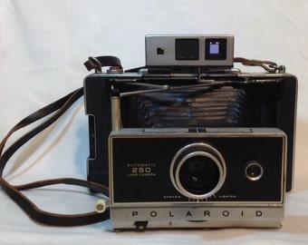 Polaroid Model 250 Land Camera & Flash Vintage Photography