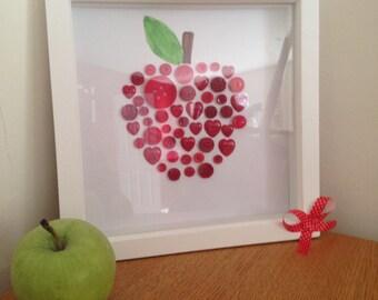 Button Apple Art