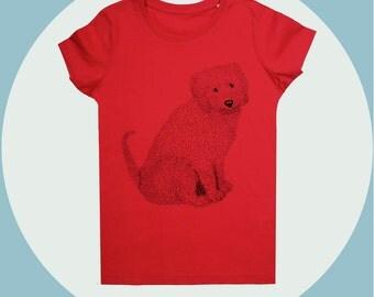Red kids T-Shirt, unisex & girls, MAYA,