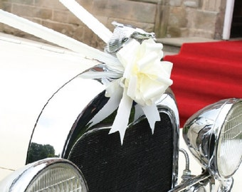 Wedding Car Ribbon and Bow Accessory Kit available in 1, 3, or 5 bow versions 18 Colours