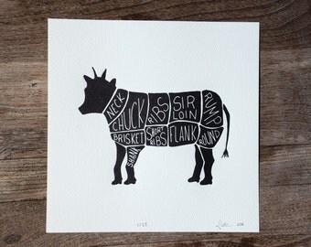 Butcher Print (Cow)