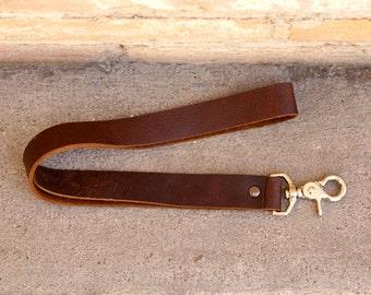 GRAND OPENING SALE! Kodiak Leather Lanyard/ Men's Leather Lanyard/ Brown Leather Lanyard