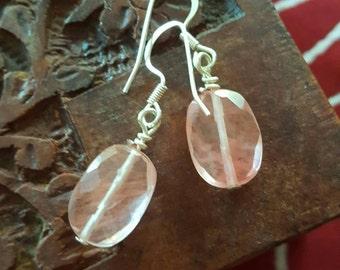 Faceted rose quartz