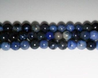 SALE! Dumorterite beads 4mm round beads 4mm stone beads blue stone beads semiprecious stone semiprecious beads dumorterite