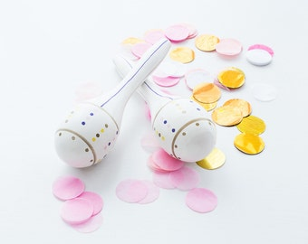 Baby Girl Maracas Pink & Gold //Gift for babyshower //Baby toy//Toxic free colours and CE-marked