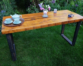 Steel table legs etsy - Made to measure bench seating ...