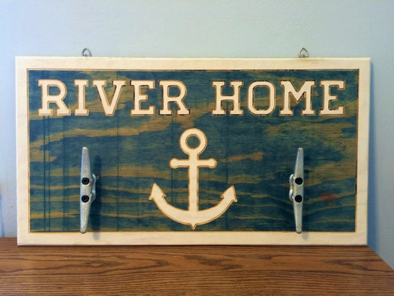 River Lake Beach House Home Wall Decor 26 x