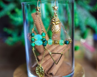 "Earrings ""Piña"""