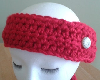 Ear Warmer / Headband - red