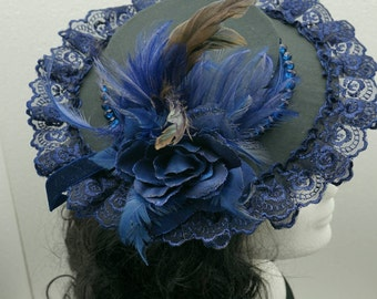 Dark blue Baroque Hat