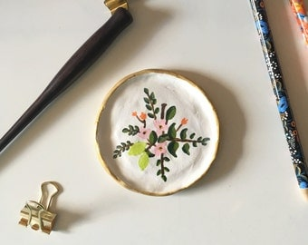 Hand-Painted Jewelry Dish