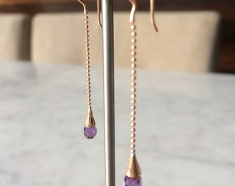 Dangle Drop Earring Amethys