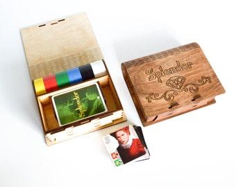 Splendor™ case, Splendor™ box, Splendor™ organizer, Board game organizer, Splendor™, Wooden box, Wooden organizer