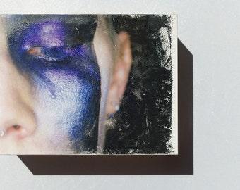 Alter Egos - Noir #2 OOAK Acrylic Photographic Image Transfer - Small