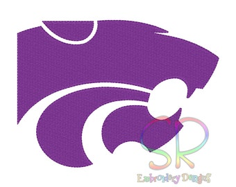 9 Size Kansas State Wildcats Embroidery Designs College Football Logo Embroidery Design Machine Embroidery - Instant Download