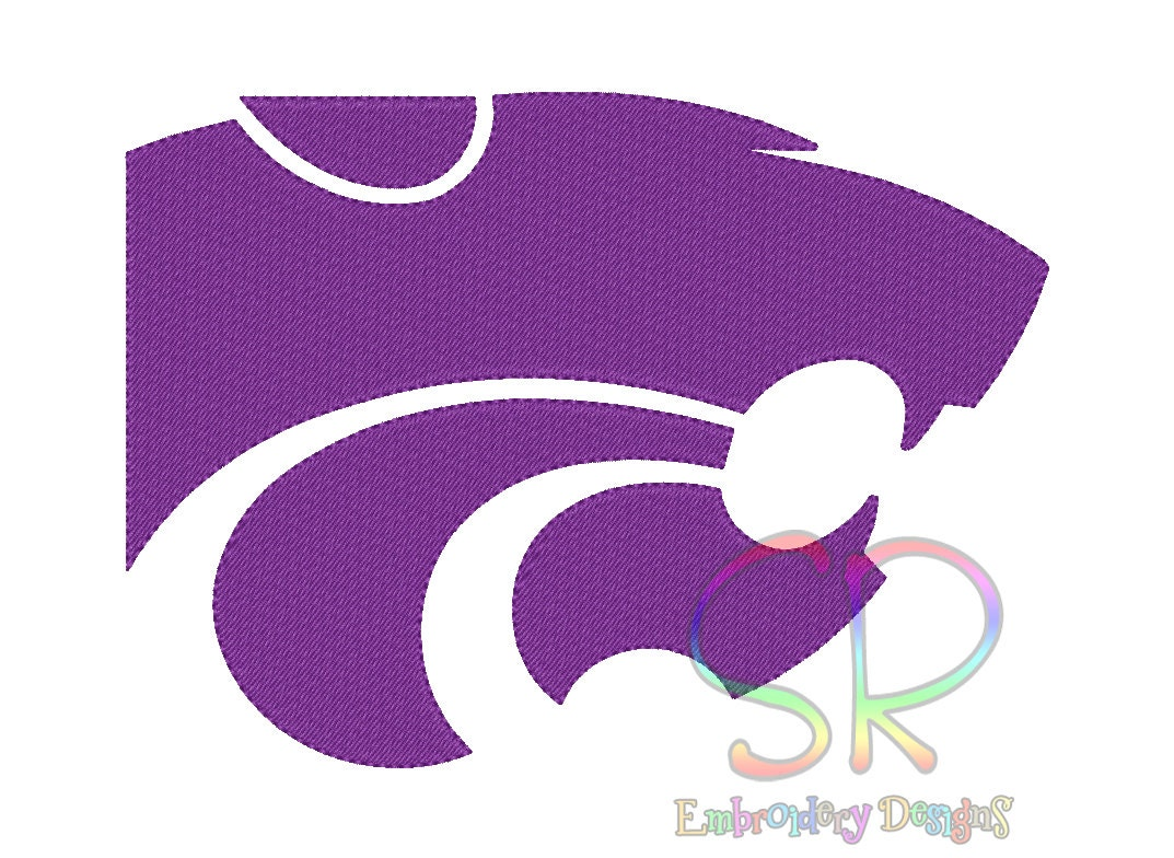 Size kansas state wildcats embroidery designs college