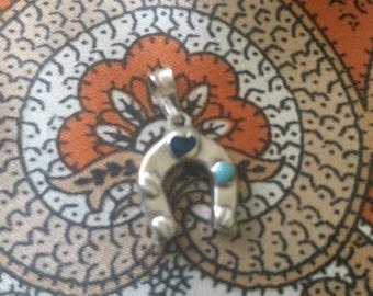 Stirling silver horseshoe charm