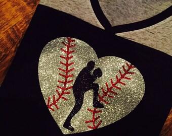 Baseball Pitcher In My Heart Tee
