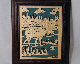 Wading Moose Portrait