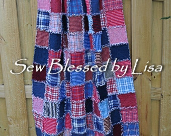 Red White Blue Flannel Etsy