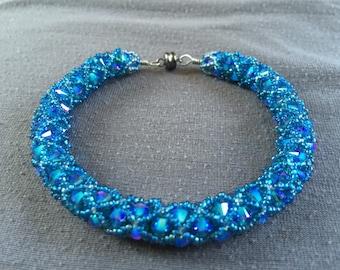 Blue crystal bracelet
