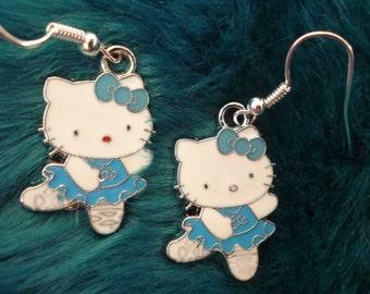Hello kitty ballerina kawaii earrings