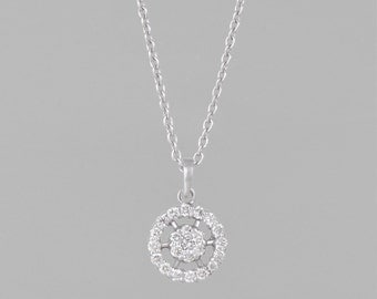 necklace of gold 14 K 67 diamonds 1.20 CT
