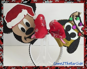 Mickey Mouse Pluto Christmas Disney Ear Christmas  Mickey Ear Christmas Minnie Ear  Boy Girl Mouse Ears