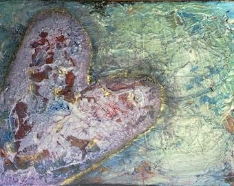 Here Again - Acrylic on Canvas - 12x9