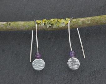 Amethyst Threader Earrings