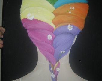 flowered braid painting