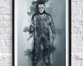 Halloween - Michael Myers 'Watercolor' A4 Print