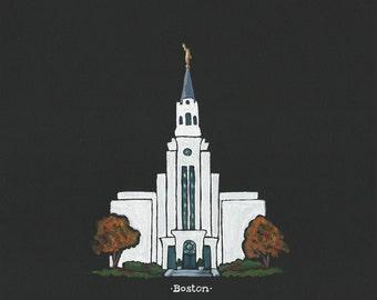 Custom LDS Temple acrylic painting, 8x10