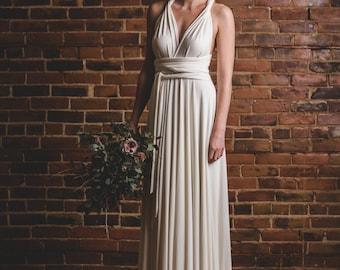 Florence Long Infinity Dress // flowy convertible wedding gown, octopus wrap dress