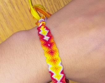 Flame-style woven bracelet