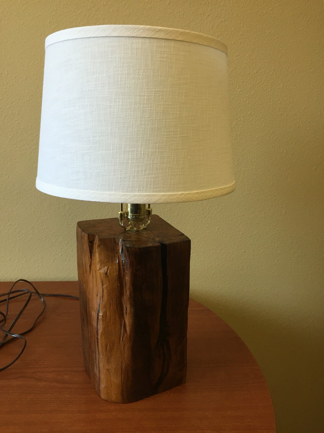 100 year old beam reclaimed wood table lamp by mcfinewoodworkingaz. Black Bedroom Furniture Sets. Home Design Ideas